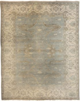 Hand Knotted Oushak Rug 9' x 12'