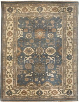 Hand Knotted Oushak Rug 9 x 12