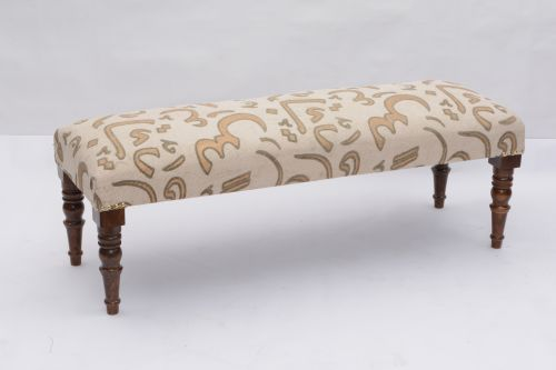 AD-23 WOODEN COTTON PRINTED BENCH
