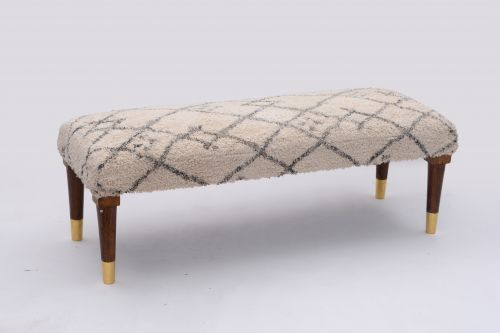 AD-24 WOODEN COTTON PRINTED BENCH