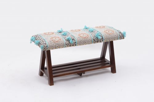 AD-28 WOODEN BENCH WITH SHELF