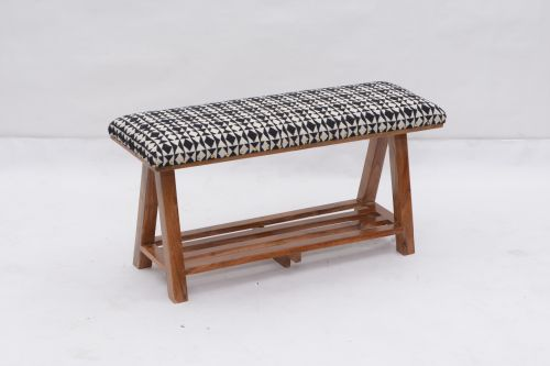 AD-36 WOODEN BENCH WITH SHELF
