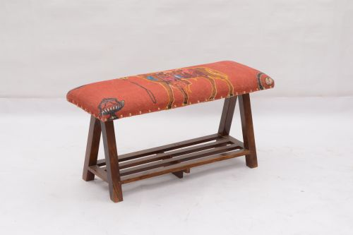 AD-37 WOODEN BENCH WITH SHELF