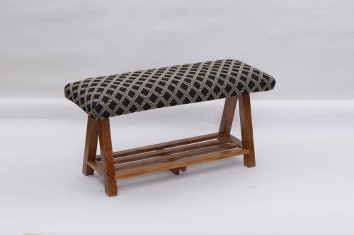 AD-38 WOODEN BENCH WITH SHELF