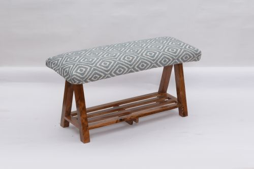 AD-39 WOODEN BENCH WITH SHELF