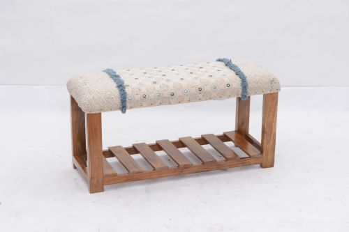 AD-40 WOODEN BENCH WITH SHELF