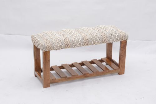 AD-45 WOODEN BENCH WITH SHELF